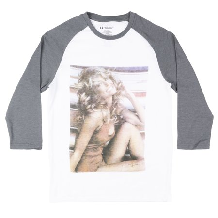 FARRAH FAWCETT SWIMSUIT POSTER RAGLAN SHIRT MENS CELEBRITY RETRO TEES NWT