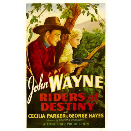 Riders Of Destiny John Wayne Cecilia Parker 1933 Movie Poster Masterprint