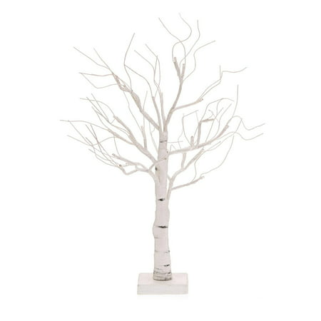 24 battery operated led lighted poseable white leafless twig christmas tree warm white lights
