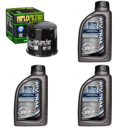 Complete Mineral Engine Oil 10w 40 Change Kit For Atv