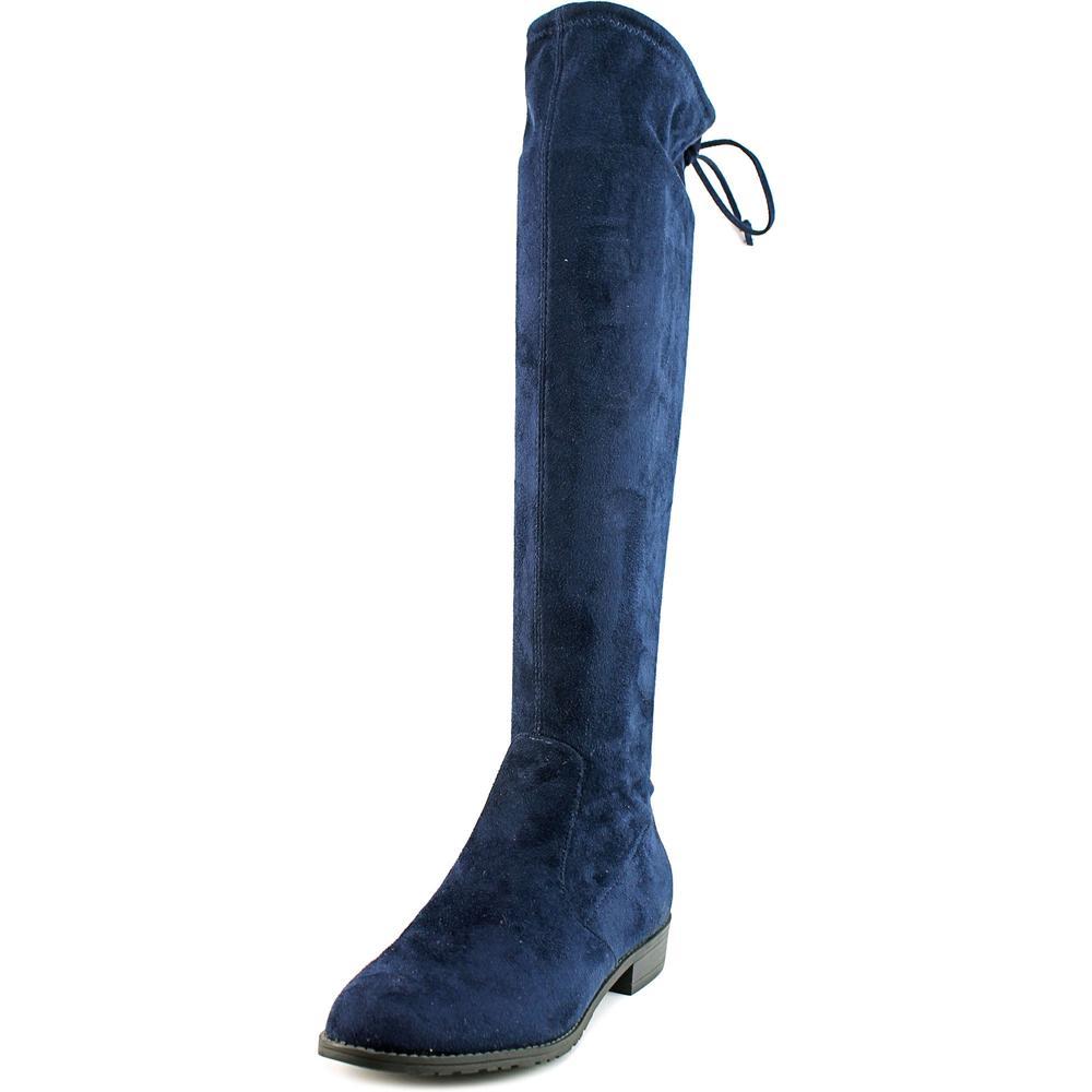 Unisa Aryaa   Round Toe Canvas  Over the Knee Boot