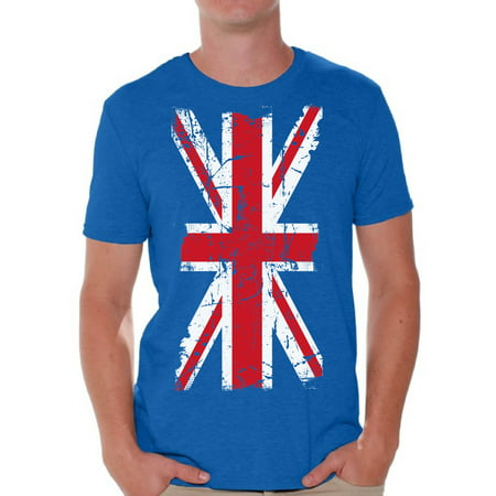Awkward Styles Union Jack T-shirt for Him T Shirt for Boyfriend Patriotic Collection Union Jack Shirt UK T Shirt for Men United Kingdom Flag T Shirt for Men Birthday Gifts Ideas for Englishmen (Men Birthday Gift Ideas)