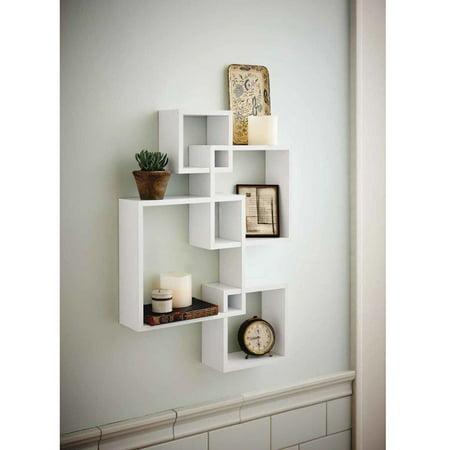 Zimtown Set Of 4 Decorative Wood Floating Wall Shelf