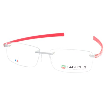 (TAG Heuer Reflex 3442 006 Rimless Red Eyeglasses Frame)