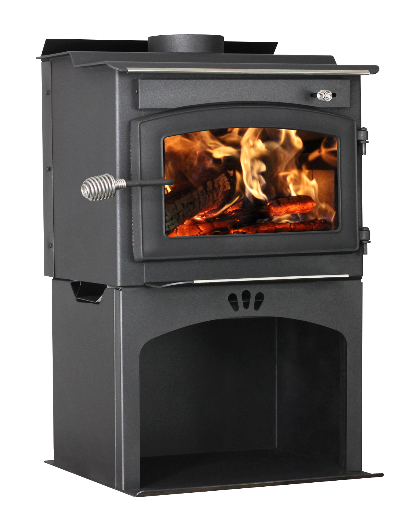 Defender 1,200 Sq. Ft. Wood Stove with Storage by United States Stove Company