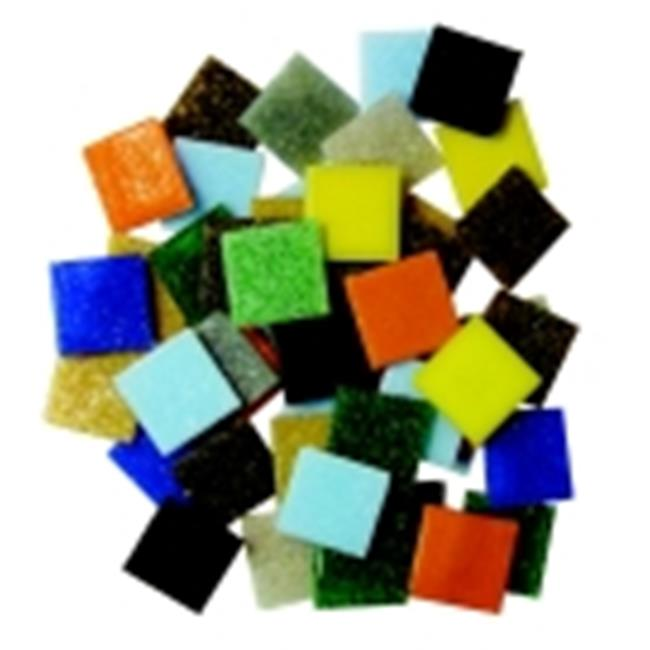 Diamond Tech 0. 75 x 0. 75 inch Glass Venetian Square Mosaic Tile, 3 Lbs.  Bag