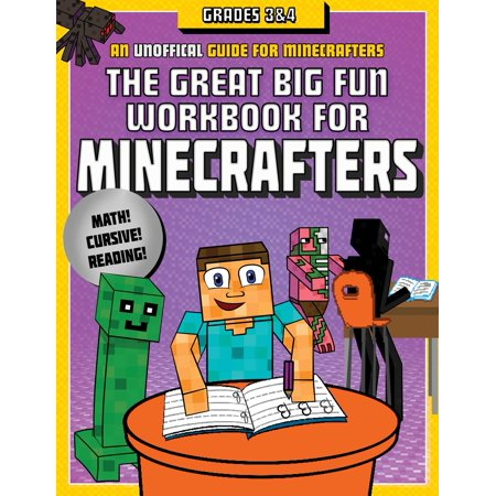 The Great Big Fun Workbook for Minecrafters: Grades 3 & 4 : An Unofficial Workbook (Halloween Art For Grade 4)