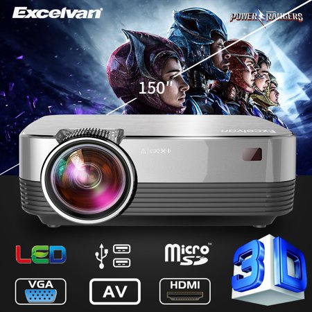 Excelvan Q6 Upgraded 4Inch Mini Portable 1800 Lumens Touch Panel LED Projector Multimedia Video Projector Support 1080P HDMI VGA AV USB TF PS4 XBOX TV BOX Laptop DVD Amazon Fire TV Stick Ps Engineering Audio Panel