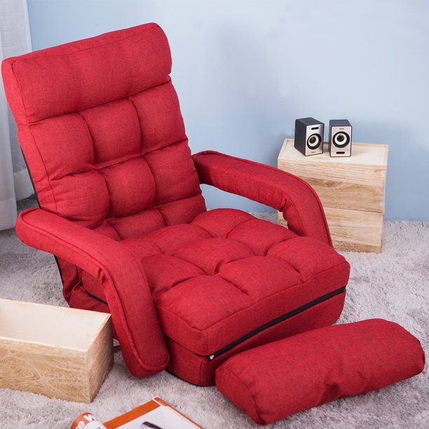Floor Gaming Chair With Armless Living Room Lazy Floor Sofa Chair With Pillow Walmart Com Walmart Com