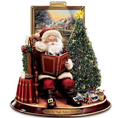 thomas kinkade storytelling santa tabletop figurine: 'twa...