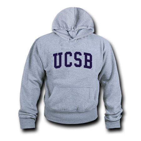 Game Day Hoody Sweatshirt - NCAAC UCSB -University of California Santa Barbara Hoodie Sweatshirt Game Day Fleece Heather Grey Small