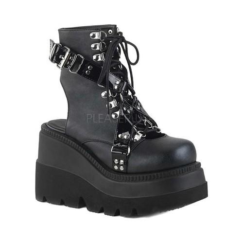 Women's Demonia Shaker 56 Open Back Ankle Boot by PleaserUSA