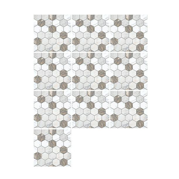 10 Pcs Set Self Adhesive Tile Stickers Art Decals Removable Wall Sticker Kitchen Backsplash Bathroom Home Tidy Protection Walmart Com Walmart Com