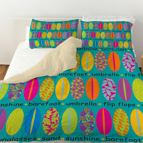 Manual Woodworkers & Weavers Surfs Up 1 Duvet Cover