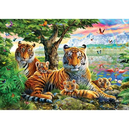 Buffalo Games Hiddin Tigers Jigsaw Puzzle - Solucion De Cody Halloween Saw Game