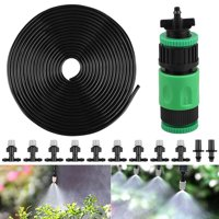 """EEEKit 33ft 1/4"""" Blank Distribution Tubing DIY Garden Drip Irrigation Plant Watering Atomizing Nozzle Mister Drip Accessories, Misting Cooling System with Mister Nozzle Sprinkler for Pots &Containers"""