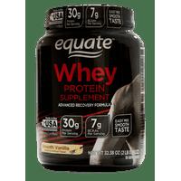 Equate Whey Protein Powder, Smooth Vanilla, 30g Protein, 2.02lb, 32.38oz