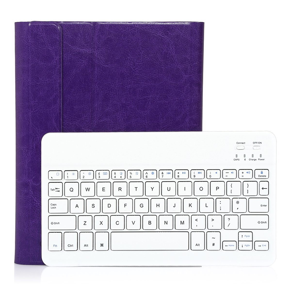 For iPad 2 /3/ 4 Wireless Bluetooth Keyboard Rechargeable with Case Cover,CoastaCloud Ultra thin US Layout,Detachable or Removable Magnetically keyboard Supreme Quality PU Leather Case Cover for iPad