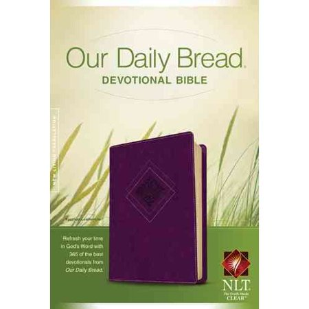 Our Daily Bread Devotional Bible  New Living Translation  Eggplant  Leatherlike