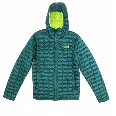 Mens Small Hooded Puffer Full Zip Jacket S