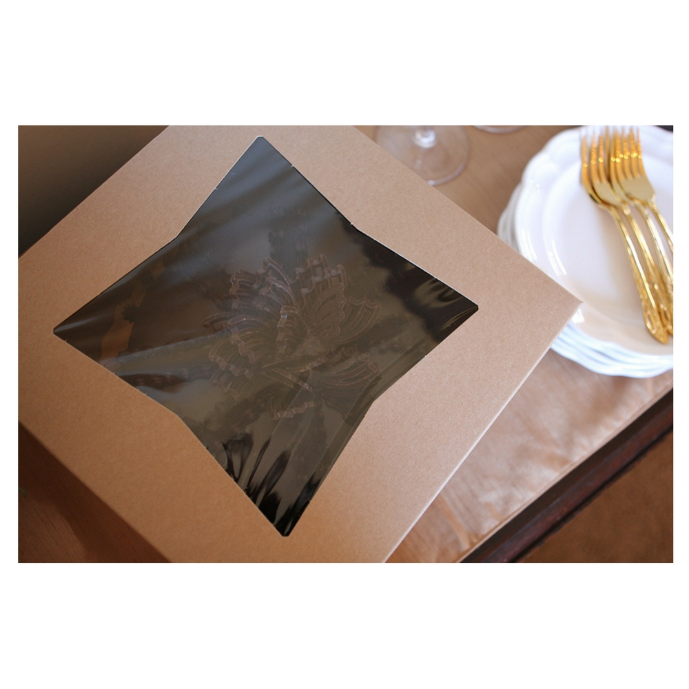 "Southern Champion Kraft Window Pie Box, 9"" X 9"" X 4"", Brown 