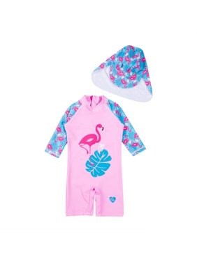c4ab7d395d Product Image Fashion Kids Baby Girl Flamingo Swimwear Swimsuit Beachwear  One-piece Bikini Set