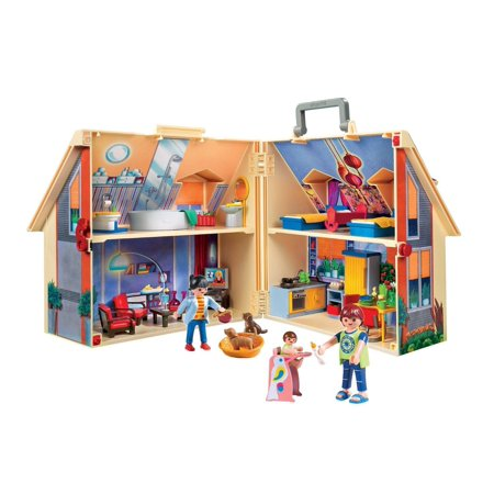 Playmobil Take Along Modern Dollhouse With 128 Accessories  129 Piece Set