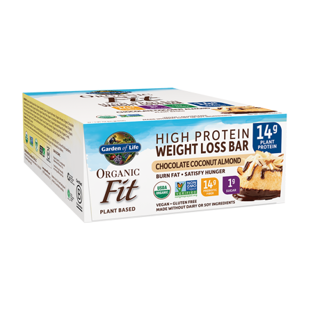 Garden of Life Organic Fit Bar, Chocolate Coconut Almond, 14g Protein, 12