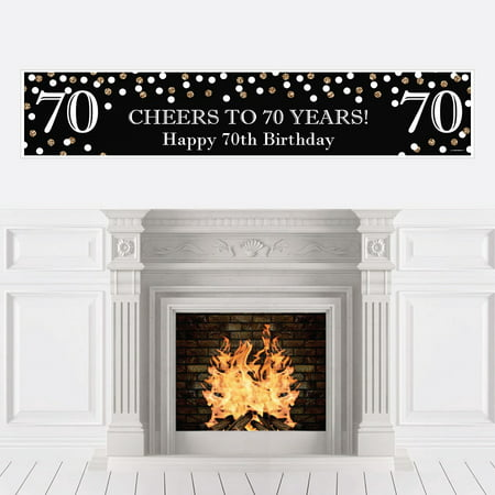 Adult 70th Birthday - Gold - Birthday Party Decorations Party Banner](70th Birthday Banner)