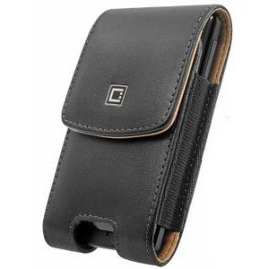 Cellet Vertical Noble Leather Case with Removable Spring Clip for iPhone 5 / 5S / 5C - Black