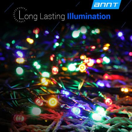 Multi Color 55ft 17m 100 LED Solar Fairy String Lights Ambiance Lighting For