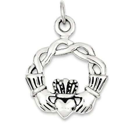 Irish Claddagh Pendant - 925 Sterling Silver Irish Claddagh Celtic Knot Pendant Charm Necklace Fine Jewelry Ideal Gifts For Women Gift Set From Heart