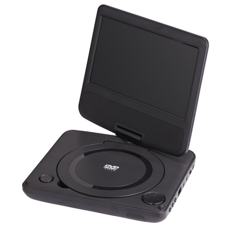 onn. Swivel Portable DVD Player Kit, 7u0022