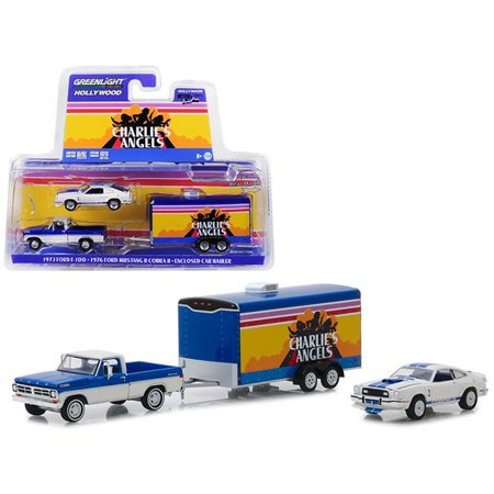 - Greenlight 31070A 1972 Ford F-100 Pickup Truck with 1976 Ford Mustang II Cobra II & Enclosed Car Hauler Charlies Angels 1976-1981 TV Series 6 1-64 Diecast Model