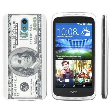 [NakedShield] HTC Desire 526 [Clear] Ultra Slim TPU Phone Cover Case [$100 Bill