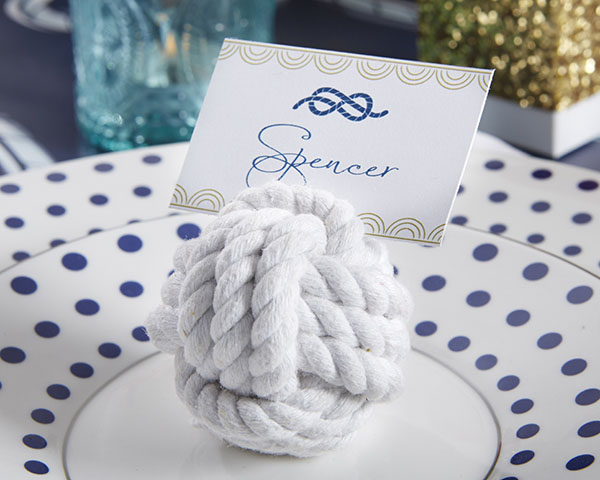 nautical cotton rope place card holder set of 6