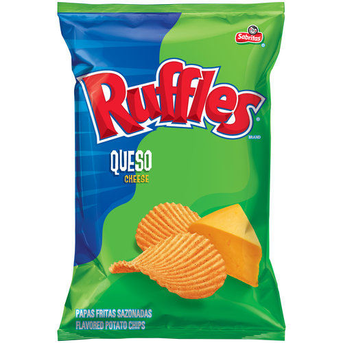 Ruffles Sabritas Queso Cheese Potato Chips, 6.5 oz
