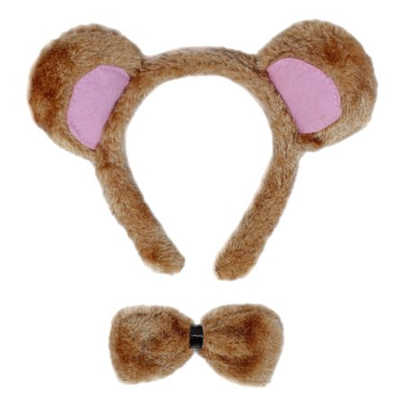 SeasonsTrading Bear Ears & Bow Tie Costume Set