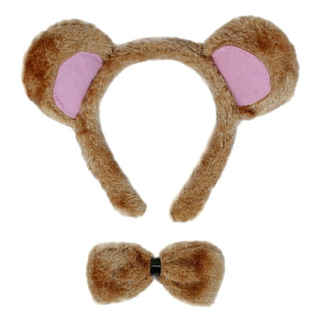 SeasonsTrading Bear Ears & Bow Tie Costume Set - Halloween Costume Sets