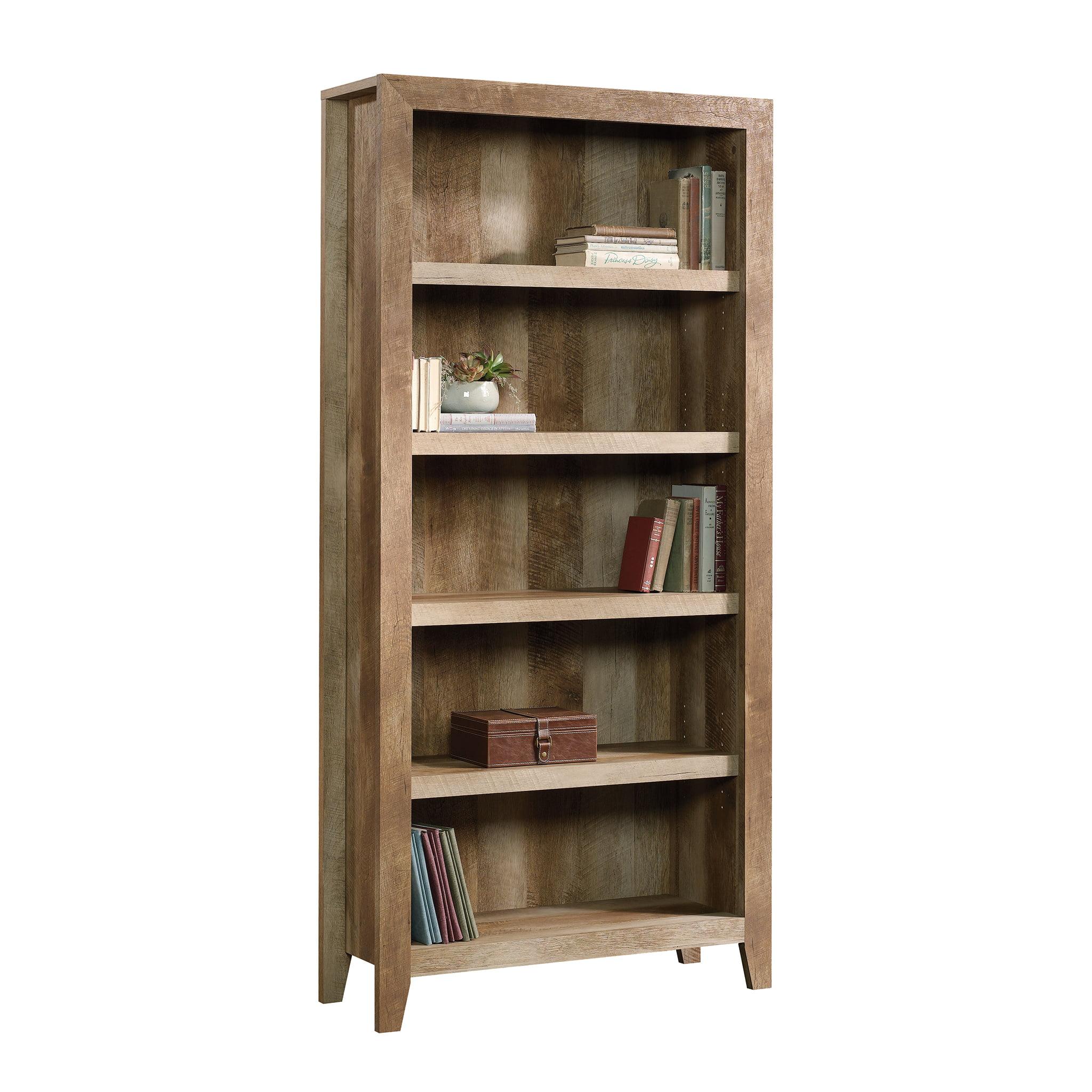 Sauder Dakota Pass 5-Shelf Bookcase, Craftsman Oak Finish ...