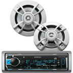 "Kenwood PKG-MR315BT Marine KMR-M315BT Single-DIN In-Dash Unit and KFC-1633MRW 6.5"" 2-Way Speaker System Bundle"