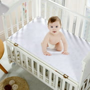Mellanni Waterproof Mattress Protector Crib White - Dust Mite, Bacteria Resistant - Hypoallergenic - Fitted Deep Pocket - Better Than Pads, Covers or Toppers (Crib)