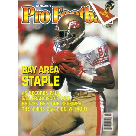 Athlon CTBL-012538 Jerry Rice Unsigned San Francisco 49ers Sports 1991 NFL Pro Football Preview Magazine - Rice Football Halloween Costume