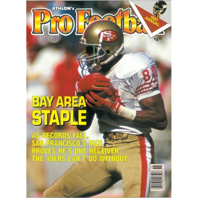 Athlon CTBL-012538 Jerry Rice Unsigned San Francisco 49ers Sports 1991 NFL Pro Football Preview Magazine