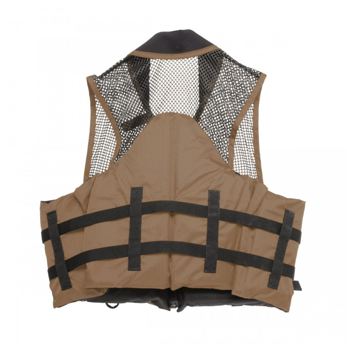 Deluxe Mesh Top Fishing Vest, L XL, Bark by Overstock