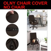 Piccocasa Waterproof Stretch Spandex Rotating Chair Covers (ONLY COVER) for Home Office,Large/Coffee