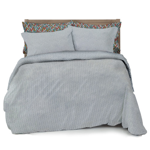 Where the Polka Dots Roam Herringbone Duvet Cover Set
