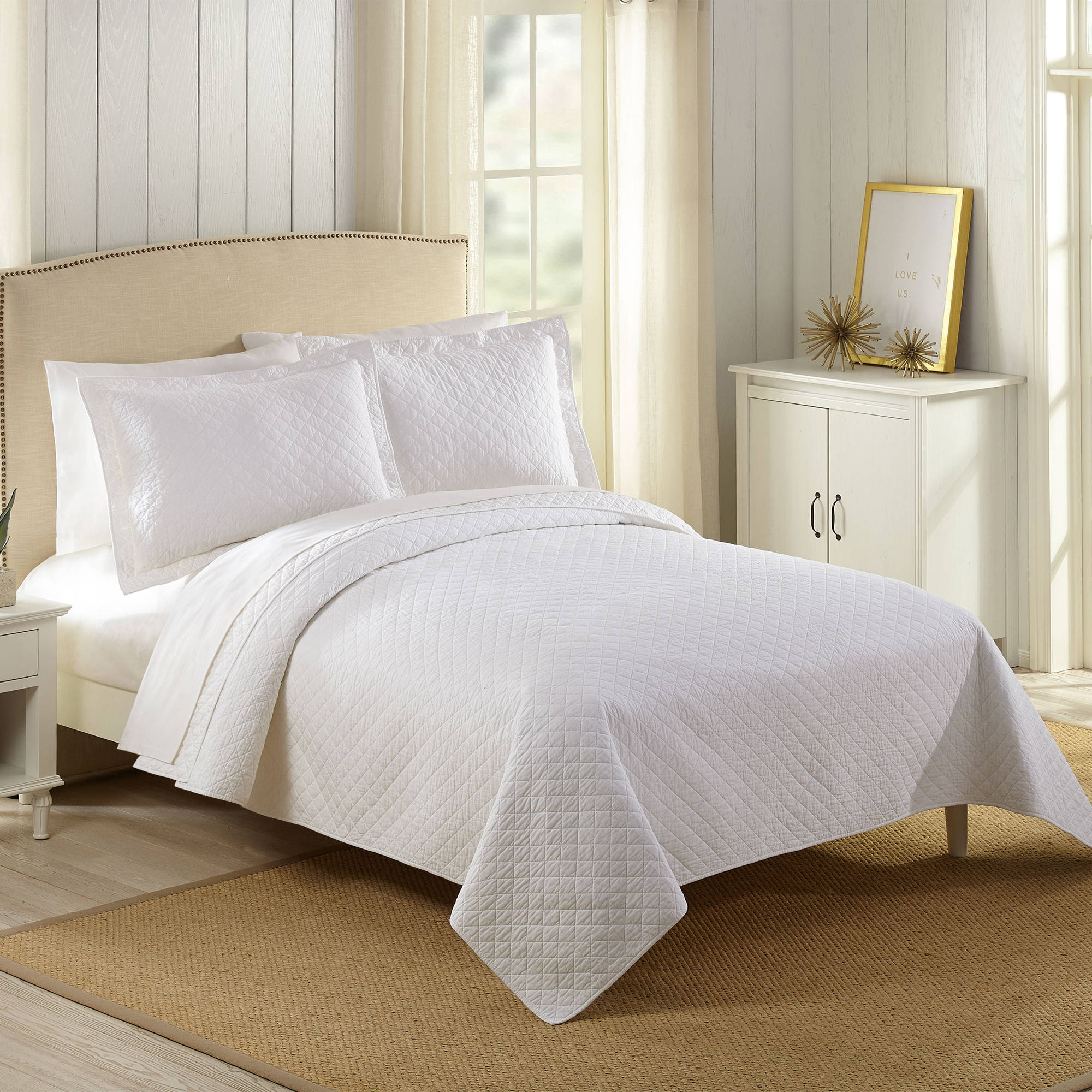 Better Homes and Gardens Solid Cotton Full/Queen Quilt