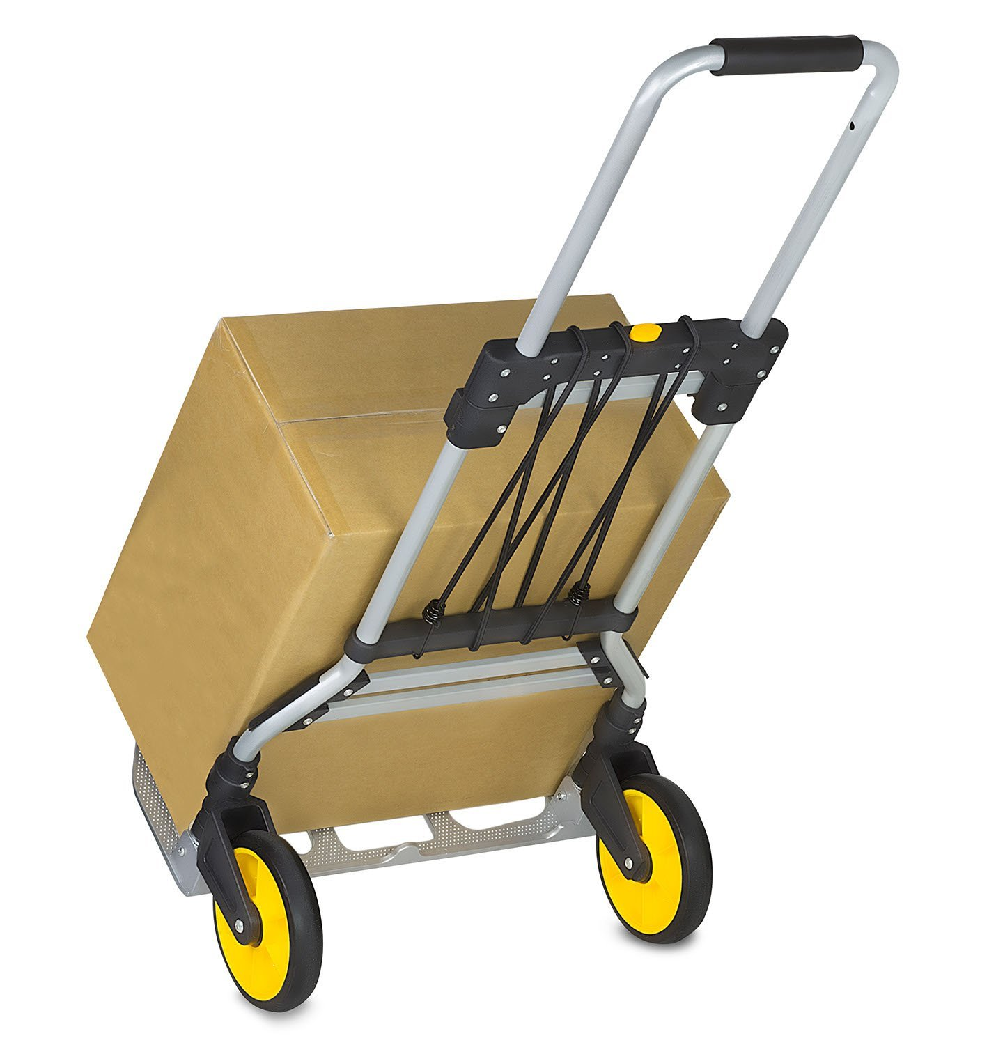 Mount-It! Heavy-Duty Folding Hand Truck, Dolly, and Luggage Trolley Cart With Telescoping Handle 264 Lb. Capacity (MI-902)