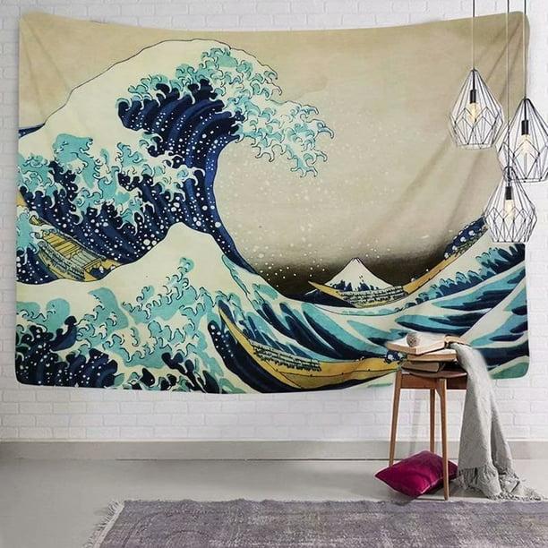 Victsing Tapestry Wall Tapestry Wall Hanging Tapestries The Great Wave Kanagawa By Katsushika Hokusai Tapestry Wall Blanket Wall Decor Wall Art Home Decor 150x130cm Walmart Com Walmart Com